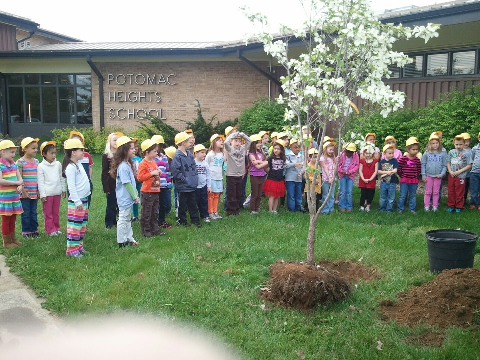 Arbor Day with Antietam Tree and Turf